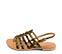 Ref. 4439 Sandalia potro leopardo con tiras tipo romana y pulsera al talón con hebilla dorada. Plantilla de piel. - Ítem3