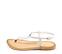 Ref. 4442 Sandalia piel blanca con tira y pulsera al talón con hebilla plateada. Plantilla de piel. - Ítem3