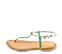Ref. 4445 Sandalia piel con grabado serpiente turquesa y tira al tobillo plateada. Plantilla de piel. - Ítem3