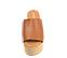 Ref. 4449 Sandalia piel cuero con pala. Pataforma forrada de esparto. Altura plataforma trasera 10 cm y plataforma delantera de 5 cm. - Ítem2