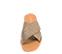 Ref. 4450 Sandalia piel taupe con pala cruzada y detalle trenzado. Plantilla y suela de piel. - Ítem2