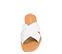 Ref. 4451 Sandalia piel blanca con pala cruzada y detalle trenzado. Plantilla y suela de piel. - Ítem2