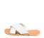 Ref. 4451 Sandalia piel blanca con pala cruzada y detalle trenzado. Plantilla y suela de piel. - Ítem3