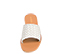 Ref. 4455 Sandalia piel blanca con pala y detalle trenzado. Plantilla y suela de piel. - Ítem2