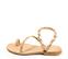 Ref. 4459 Sandalia piel natural con detalle tornillos dorados y conchas en las tiras. Plantilla de piel. - Ítem3