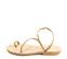 Ref. 4461 Sandalia piel natural con tiras en trenza. Plantilla de piel. - Ítem3