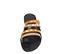 Ref. 4462 Sandalia piel negra combinadas en cuero y taupe. Detalle tornillos dorados. Plantilla de piel. - Ítem2