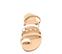 Ref. 4463 Sandalia piel natural combinadas en blanco y taupe. Detalle tornillos dorados. Plantilla de piel. - Ítem2
