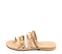 Ref. 4463 Sandalia piel natural combinadas en blanco y taupe. Detalle tornillos dorados. Plantilla de piel. - Ítem3