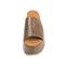 Ref. 4466 Sandalia marrón con grabado cocodrilo. Altura plataforma trasera 7 cm y plataforma delantera 5 cm. - Ítem2