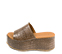Ref. 4466 Sandalia marrón con grabado cocodrilo. Altura plataforma trasera 7 cm y plataforma delantera 5 cm. - Ítem3