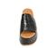 Ref. 4467 Sandalia negra con grabado cocodrilo. Altura plataforma trasera 7 cm y plataforma delantera 5 cm. - Ítem2