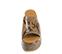 Ref. 4468 Sandalia con grabado serpiente en tonos marrones y beige. Altura plataforma trasera 7 cm y plataforma delantera 5 cm. - Ítem2
