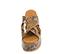 Ref. 4469 Sandalia con grabado serpiente en tonos marrones y beige. Altura plataforma trasera 7 cm y plataforma delantera 5 cm. Pala cruzada. - Ítem2