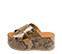 Ref. 4469 Sandalia con grabado serpiente en tonos marrones y beige. Altura plataforma trasera 7 cm y plataforma delantera 5 cm. Pala cruzada. - Ítem3