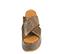 Ref. 4470 Sandalia marrón con grabado cocodrilo. Altura plataforma trasera 7 cm y plataforma delantera 5 cm. Pala cruzada. - Ítem2