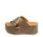 Ref. 4470 Sandalia marrón con grabado cocodrilo. Altura plataforma trasera 7 cm y plataforma delantera 5 cm. Pala cruzada. - Ítem3