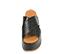 Ref. 4471 Sandalia negra con grabado cocodrilo. Altura plataforma trasera 7 cm y plataforma delantera 5 cm. Pala cruzada. - Ítem2