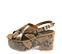 Ref. 4473 Sandalia con con grabado serpiente en tonos marrones y beige. Pala cruzada y tira al talón con hebilla dorada. Altura tacón 9.5 cm y plataforma delantera de 5 cm. - Ítem3