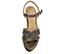 Ref. 4502 Sandalia oro viejo con pala cruzada. Pulsera al tobillo con hebilla dorada. Altura tacón 13.5 cm y plataforma delantera de 4 cm. - Ítem2