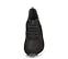 Ref. 4503 Sneaker serraje negro combinada con tela negra y piel en tono gris. Cordones negros. Suela blanca. Altura trasera 5 cm y delantera 3 cm. Plantilla anatomica. - Ítem2