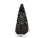 Ref. 4504 Sneaker serraje negra combinada en piel y tela al tono. Cordones negros con detalles blancos. Plantilla anatomica. Altura plataforma trasera 5 cm y delantera de 3 cm. - Ítem2