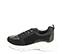 Ref. 4505 Sneaker serraje negra combinada con piel y tela al tono. Suela blanca. Altura plataforma trasera 5 cm y delantera de 2.5 cm. Plantilla anatomica. - Ítem3