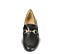 Ref. 4514 Zapato plano de piel negra con detalle dorado en la parte delantera. Plantilla de piel. - Ítem2
