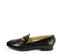 Ref. 4514 Zapato plano de piel negra con detalle dorado en la parte delantera. Plantilla de piel. - Ítem3
