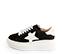 Ref. 4517 Sneaker serraje gris oscuro con detalle lateral de estrella en piel blanca. Plataforma de goma blanca. Altura trasera 6 cm y delantera 4.5 cm. - Ítem3
