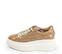 Ref. 4522 Sneaker piel con grabado coco en taupe. Cordones en beige. Plataforma blanca. Altura trasera 6 cm y delantera 4.5 cm. - Ítem3