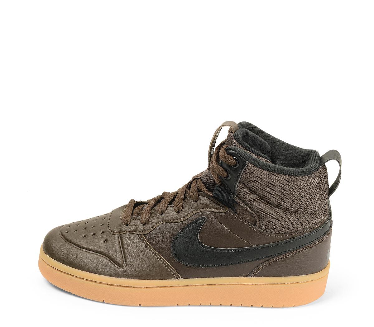 Ref. 4555 Nike de botín en piel negra y cordones al tono. Simbolo en color negro.