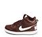 Ref. 4557 Nike de botín combinada en tela y piel color burdeos. Cordones al tono. Simbolo lateral y trasero en piel blanca. Suela blanca. Altura de caña 10 cm. - Ítem3