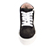 Ref. 4571 Sneaker abotinada serraje gris con glitter al tono. Cordones blancos. Detalles lateral en piel blanca. Plataforma blanca de 4 cm. Altura de caña 8 cm. - Ítem2