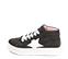 Ref. 4572 Sneaker abotinada serraje gris. Cordones blancos. Detalles lateral en piel blanca. Plataforma blanca de 4 cm. Altura de caña 8 cm. - Ítem3
