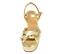 Ref. 4575 Sandalia piel oro con nudo en la parte delantera. Pulsera al tobillo. Altura tacón 9.5 cm y plataforma delantera 4 cm. - Ítem2