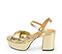 Ref. 4575 Sandalia piel oro con nudo en la parte delantera. Pulsera al tobillo. Altura tacón 9.5 cm y plataforma delantera 4 cm. - Ítem3