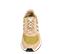 Ref. 4582 Adidas Marathon serraje beige combinada con tela oro. Simbolo lateral y trasero en piel blanca y azul. Suela blanca. - Ítem2