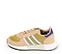 Ref. 4582 Adidas Marathon serraje beige combinada con tela oro. Simbolo lateral y trasero en piel blanca y azul. Suela blanca. - Ítem3