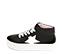 Ref. 4583 Sneaker abotinada serraje negro. Cordones blancos. Detalles lateral en piel blanca. Plataforma blanca de 4 cm. Altura de caña 8 cm. - Ítem3