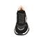 Ref. 4587 Sneaker combinada en serraje y tela negro. Cordones al tono. Detalles metalizados. Suela de goma en blanco y negro. - Ítem2