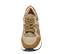 Ref. 4603 Sneaker serraje visón combinada con tela. Suela blanca. Altura plataforma trasera 4.5 cm y delantera 3 cm. - Ítem2