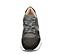 Ref. 4638 Sneaker serraje negro combinada con tela gris. Cordones grises jaspeados. Suela blanca. Altura plataforma trasera 4.5 cm y delantera 3 cm. - Ítem2