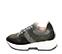 Ref. 4638 Sneaker serraje negro combinada con tela gris. Cordones grises jaspeados. Suela blanca. Altura plataforma trasera 4.5 cm y delantera 3 cm. - Ítem3