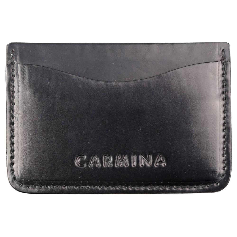 Cordovan card holder in black
