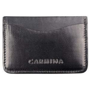 Cordovan card holder in black