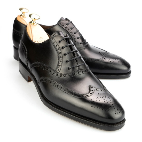Black Calf Rain Oxford Shoes Carmina