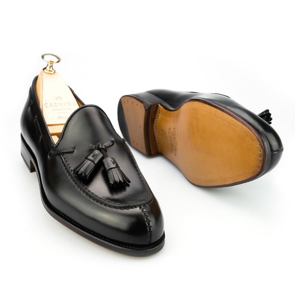 cfd549b14b8 TASSEL LOAFERS IN BLACK CALF. 395.00€. DRESS LOAFERS 734 FOREST. loafer  shoes. carmina