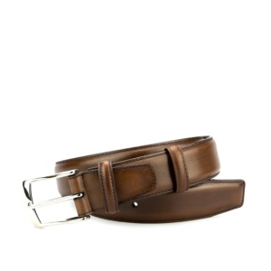 BROWN VEGANO CALF BELT