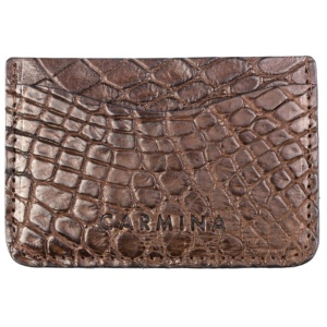 CROCODILE CARD HOLDER IN BROWN